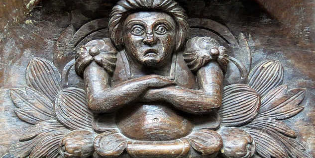 angry woman carving